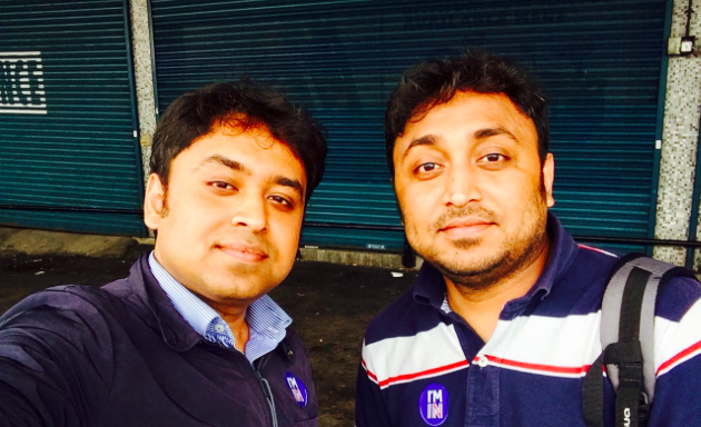 Sujit and Sumon on the election day.